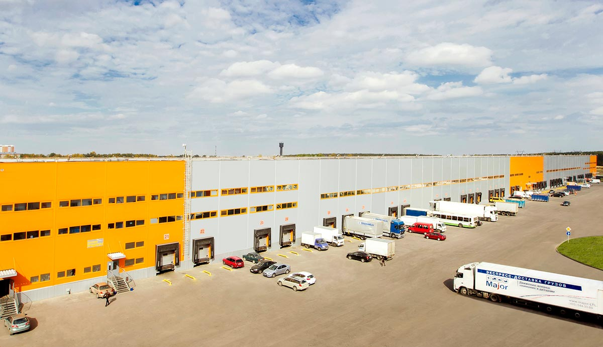 Panoramic view of the warehousing complex